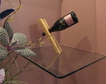 Magical balancing wine bottle holders from RedeemWood!