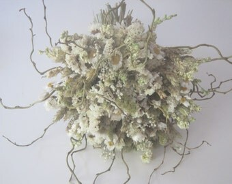Rustic and Quirky, Woodland Wedding Bouquet.  Bespoke Dried Flowers, everlasting, destination wedding.