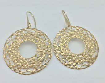 Blossoming Flower Earrings // Matte Gold Finish // Hypoallergenic // Tarnish Resistant // Steel Ear Wires // Ask About Wholesale