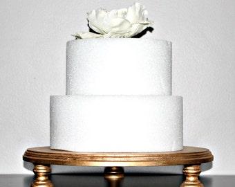 "Gold Cake Stand, 14"" Wedding, Bridal, Birthday, Cupcake Display 24k Gold!!"