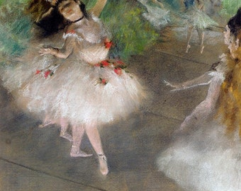 High quality hand painted Edgar Degas  dancers in white oil painting  reproduction on canvas gift  for home decor wall art paiting gift