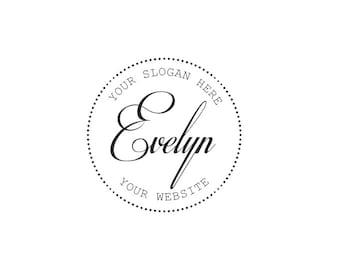 Stamp logo, Premade Logo, Logo Design, Retro Logo, Boutique Logo, Photography Logo, Branding Logo, Custom Logo, Digital Art, Circle Logo