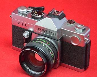 Petri TTL with 55 mm f 1.8 lens M42