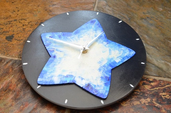 glow in the dark star wall clock non ticking clock by