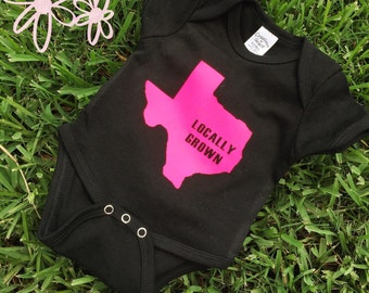 Locally Grown Onesie- MORE COLORS AVAILABLE- Sizes 0-12 months