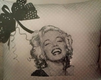 Laughing Marilyn Pillow