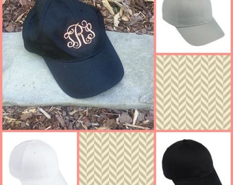 Monogrammed Hat, Women's Monogrammed Hat, Monogrammed Baseball Caps
