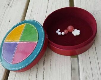 Vintage Ethnic Jewelry Box Gift Ideas Leather Jewelry Box Velvet Jewelry Box Multi-colored Jewelry Box