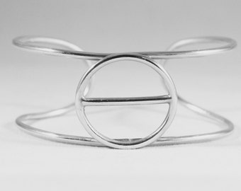 Argentium Sterling Silver Geometric Cuff Bracelet
