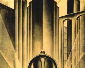 Metropolis Movie Poster by Schulz Neudamm A4 A3 A2 Large Print FLAT RATE SHIPPING
