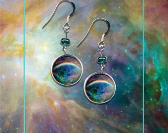 Sterling Sillver Orion Nebula Earrings