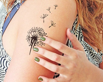 Dandelion - Temporary Tattoo (Set of 2)