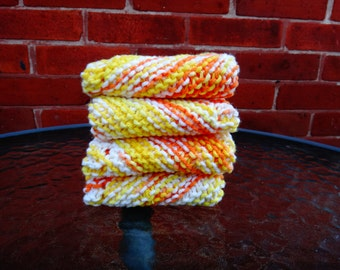 Hand knit dish cloths 100% cotton - custom made