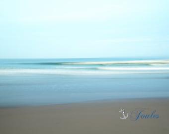 Simplicity ~ Narragansett Town Beach, Rhode Island, Beaches, Waves, Coastal Decor, Nautical Photograph, New England, Ocean,Joules, Artwork