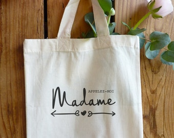"cotton bag ""call me Madam"" - 2 models"