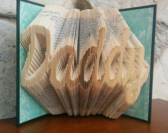 Daddy - Folded Book Art - Fully Customizable, dad, Father's Day