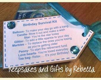 Personalised Birthday Survival Kit 18th 21st 30th 40th 50th 60th 70th