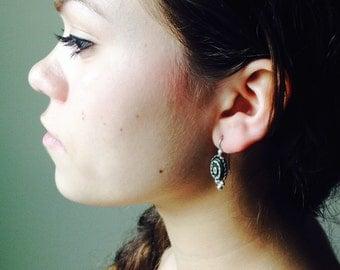 Athena - Green/Silver Earrings