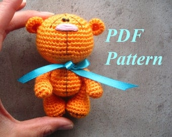 Amigurumi crochet bear pattern, PDF pattern, ENGLISH language