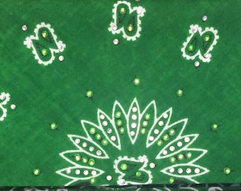 Green Bling Bandana