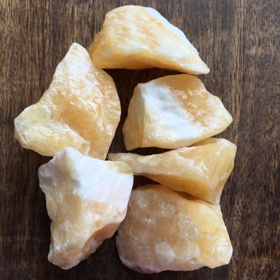 Raw Orange Calcite Crystal Healing Stone Wicca Reiki Chakra