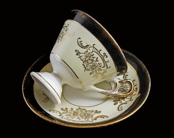 Teacup and Saucer Enesco  Footed Pedestal
