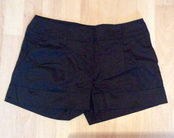Black tailored 1980's shorts