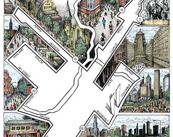 Chicago: The Marathon map