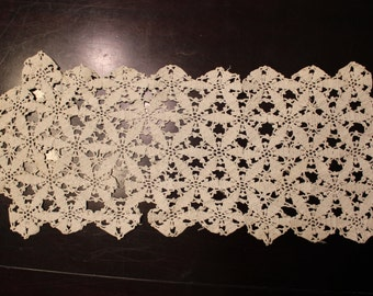 Tatted Rectangular Doily