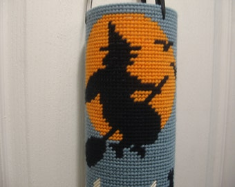 Halloween Decor-Halloween Decorations-Outdoor Halloween Decor-Plastic Canvas Witchy Windsock-Witch Decor-Fall Decor-Halloween Plastic Canvas