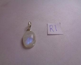 Natural Rainbow Moonstone Pendant, 12.8 ct. Oval Shaped Gemstone Pendant