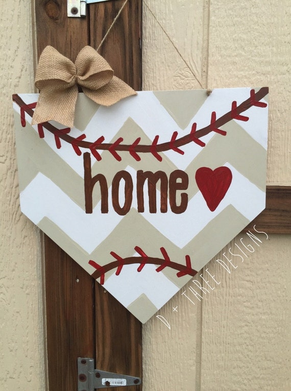 baseball home plate base baseball decor baseball wreath