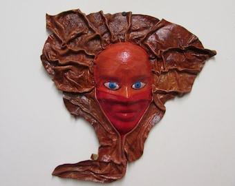 Leather decorative mask