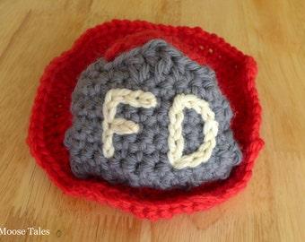 Newborn Crochet Fire Fighter Hat, Baby Photo Prop, Fire Fighter Baby, Fireman Hat, Baby Fireman Hat, Newborn Photo Hat, Fire Fighter Photo