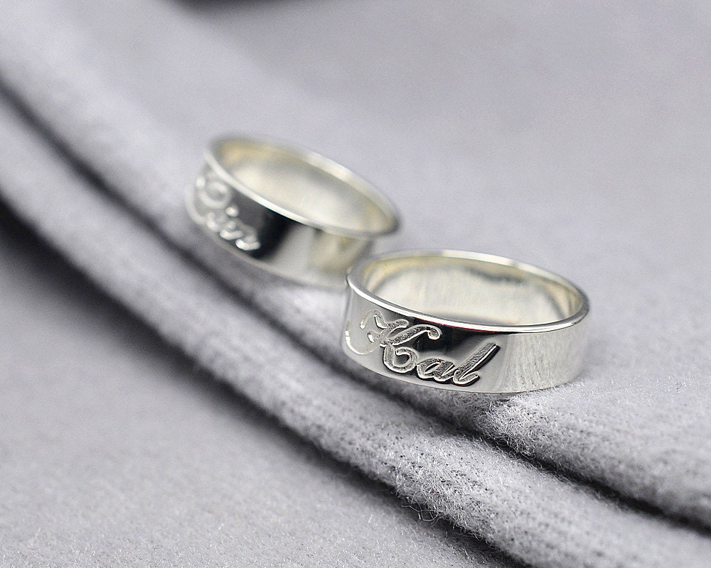 personalized name ring sterling silver custom wedding ring. Black Bedroom Furniture Sets. Home Design Ideas