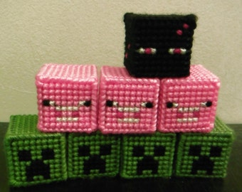 Minecraft-Inspired Mob Heads Creeper Pig or Enderman