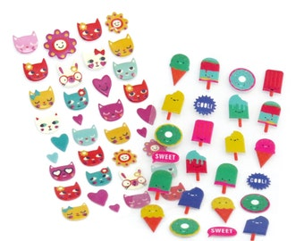 Kawaii Cats Sweets & Rabbit Stickers