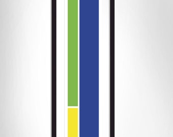 Green/Yellow/Blue flat stripes
