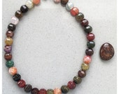 Fire Agate Healing Necklace - chakra balancing, reiki charged