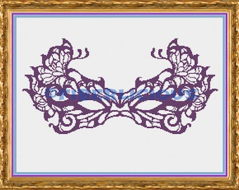 Masquerade - Counted Cross stitch pattern
