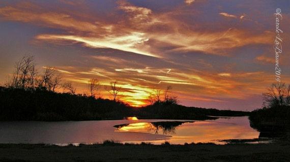 SUNSET over the LOUISIANA MARSHES ~ Louisiana Marshes ~ Louisiana at Large Series ~ Landscape Photography ~ Sunset ~ Fine Art Photography