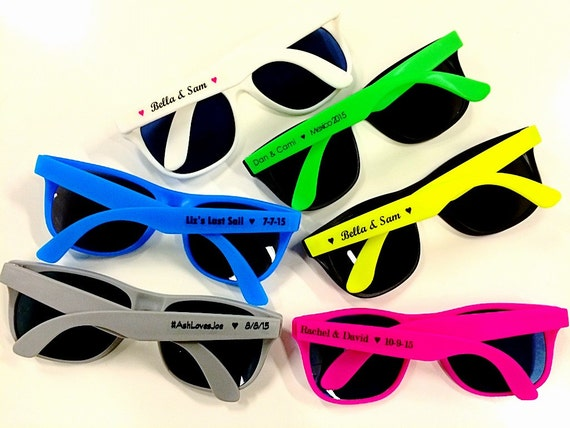 180 Personalized Sunglasses Custom Printed Wedding