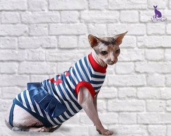 Sphynx cat clothes. Shirt for cat. Dress for cat. Cat apparel. Dressing cats. Cat dress. Hairless clothing. Sun protection suit.