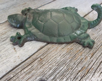 Cast Iron Turtle Wall Hook Rustic Home Decor Inside Outside Housewares