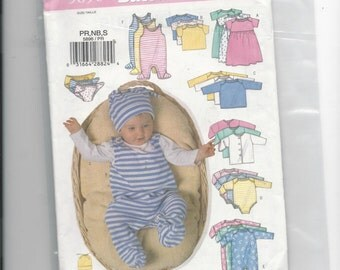 Butterick 5896 Infants Layettet Size Premie, Newborn and Small
