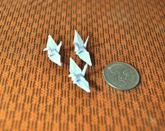 25 Tiny Origami Cranes in White