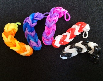 Loom Band Candy Canes