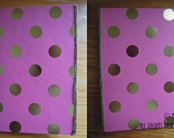 Notebook Pink with Golden dots