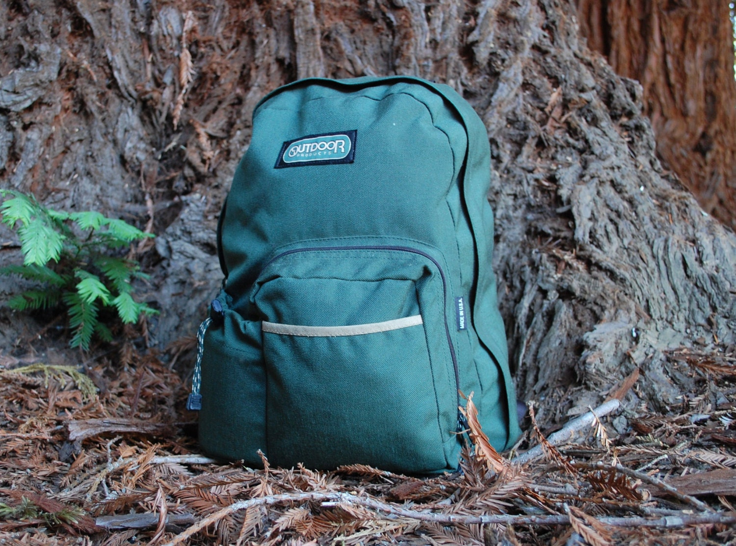 Rugged Outdoor Products Forest Green Hiking 90s 80s Backpack