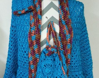 Sweater Cardigan Set Hot Turquoise